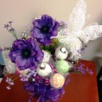 Purple Glitter Bouquet with Butterfly