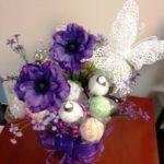 Purple Glitter Bouquet with Butterfly